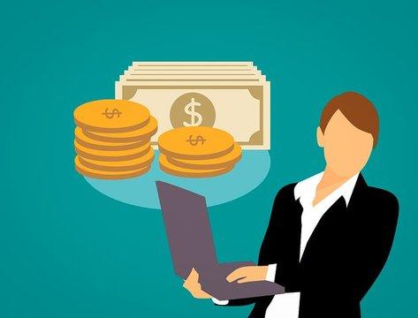 Online geld verdienen.