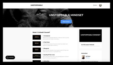 Unstoppable mindset cursus.
