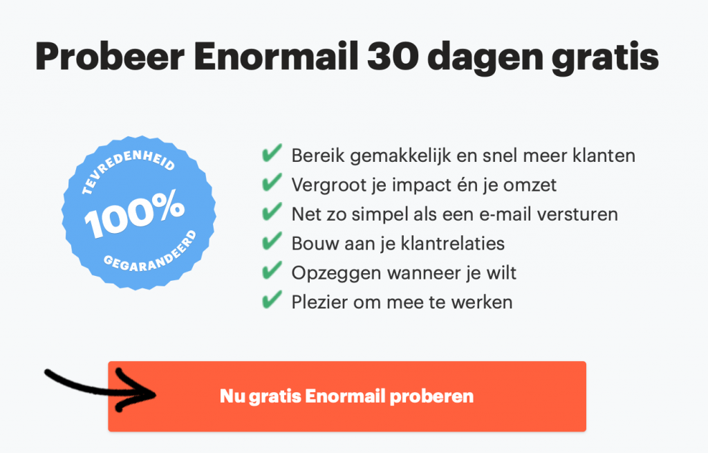 Enormail email marketing software in Nederland
