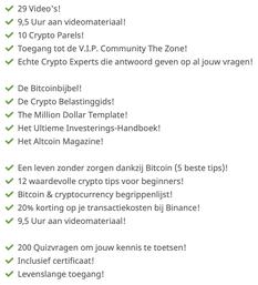 Inhoud van de crypto masterclass.